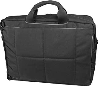 Promate 4-in-1 Bag for 15.6-inch Laptops with Backpack, Handbag, Messenger and Trolley Bag Options for Apple MacBook Pro 15-inch Laptop with Touch Bar, Camero-BP Black