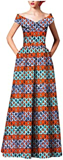 African Fabric Dresses for Women Flower Floral Fashion Culture Vintage Sexy Kitenge
