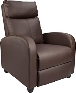 Mahamyi Recliner Chair Padded Seat Pu Leather for Living Room Single Sofa Recliner Modern Recliner Seat Club Chair Home Th...