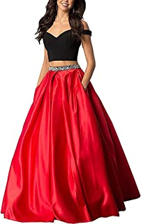 Sophie Women's Long Off The Prom Dress Satin Evening Gowns S230