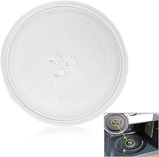 PERFETSELL Plaque de rechange pour micro-ondes - Durable - Universelle - En verre - Avec 3 fixations - Pour four à micro-o...