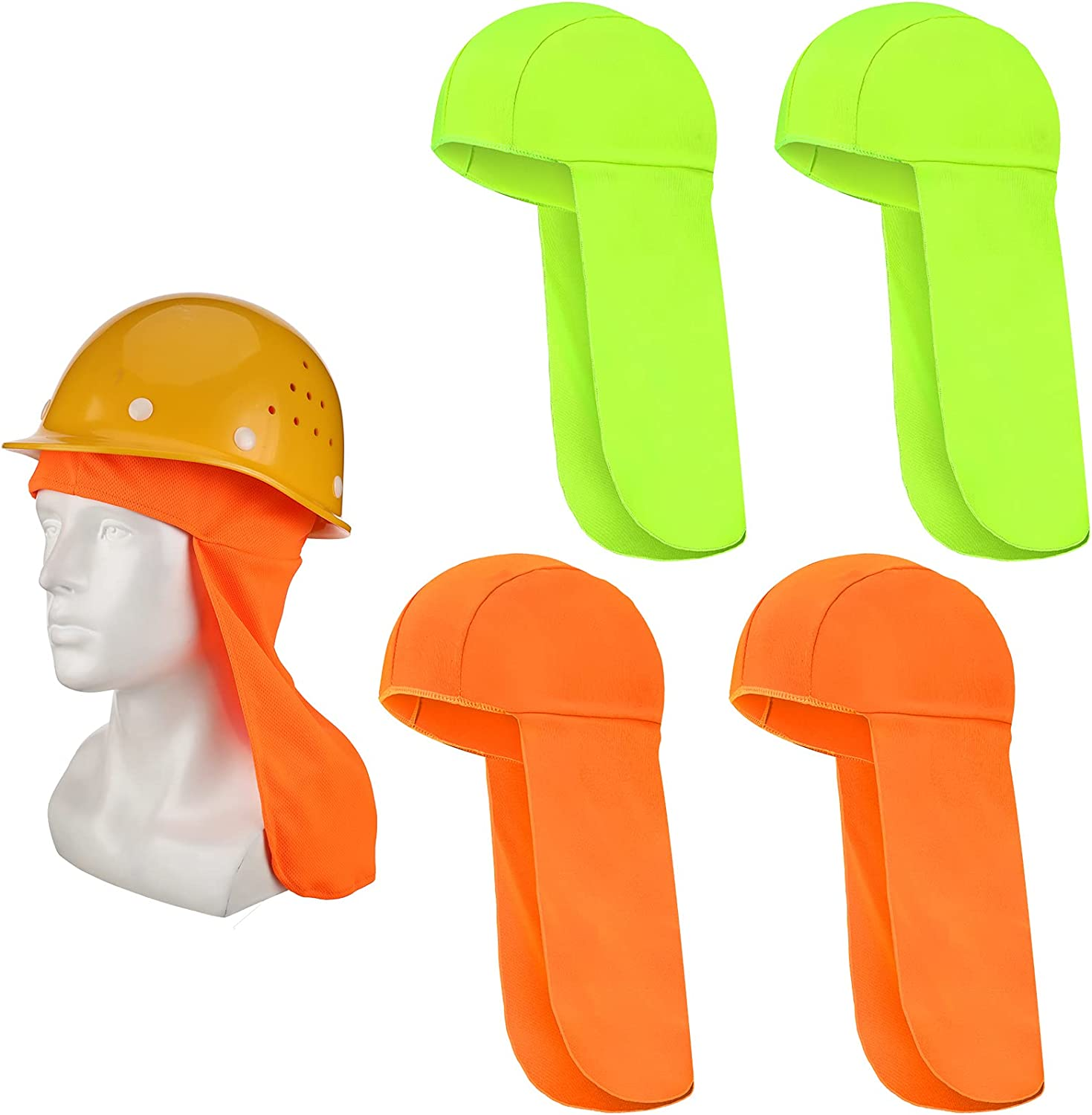 4 Pieces Elastic Hard Max 68% OFF OFFer Hat Protection Neck Sun Shading