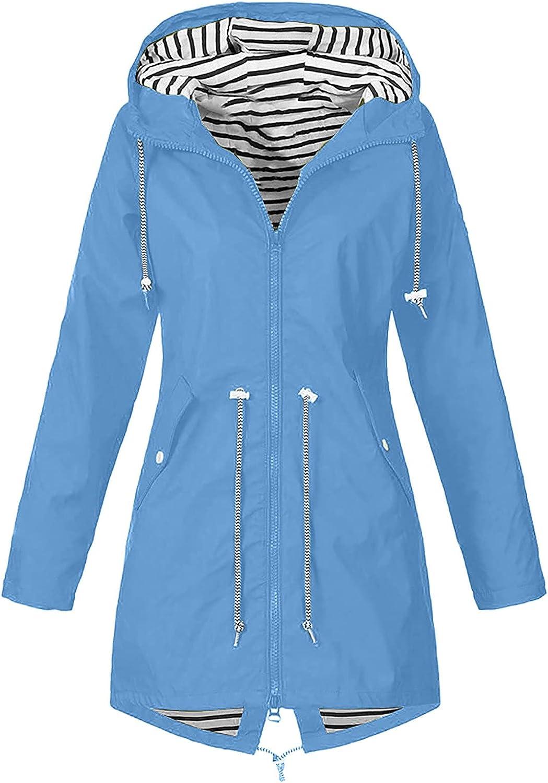 Womens Jackets Raincoat Waterproof Rain Coats Windproof Coat Hooded Jacket