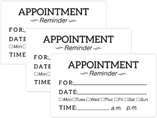50 Appointment Reminder Cards for Business Home Office Customer Service Meeting Day Date Time Planner, Next Appt, Suitable for Medical Doctor, Dental, Salon, Therapy, Dog Grooming, Cleaning Business.