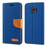 Samsung Galaxy J2 Pro 2018 Case, Oxford Leather Wallet Case