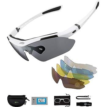 ROCKBROS Gafas de Sol Polarizadas con 5 Lentes Intercambiables para Ciclismo Bicicleta Running Deportes Protección UV 400 Anti Viento para Hombre y Mujer: Amazon.es: Deportes y aire libre