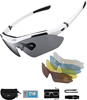 comprar comparacion ROCKBROS Gafas de Sol Polarizadas con 5 Lentes Intercambiables para Ciclismo Bicicleta Running Deportes Protección UV 400 ...