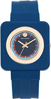 Tory Burch Women's The Izzie Watch, 36mm, Navy/Gold/Navy, One Size