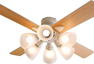 LOWYA 照明 シーリングファンライト シーリングファン リバーシブル 6灯 ホワイト/ナチュラル