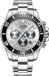 TEVISE T823 Brand Men Watch Luxury Quartz Watch Sport Stainless Steel Clock Relogio Masculino for Gift