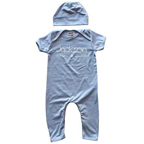 35f634d4c Personalized Rompers with Matching Hat for Boys, Girls, Gender Neutral