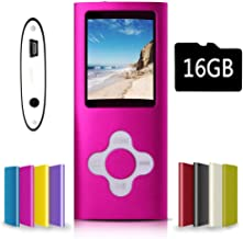 G.G.Martinsen Pink-with-White MP3/MP4 Player with a 16GB...