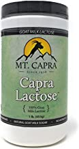 MT. CAPRA SINCE 1928 CapraLactose   Goat Milk Lactose Powder, Pure Milk Sugar from Goats, Boost Beneficial Gut Bacteria Lactobacillus Acidophilus in GI-Tract - 1 Pound