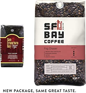 SF Bay Coffee Fog Chaser Whole Bean 2LB (32 Ounce) Medium Dark Roast (Packaging May Vary)