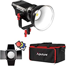 Aputure Lightstorm COB 120D 135W 6000K Daylight Balanced LED Continuous Video Light CRI96+ TLCI96+ 14000lux@0.5M Dual Power Supply 2.4G Remote Control with Barn Door Honeycomb Grid Color Filters