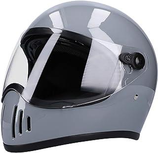 HK フルフェイスヘルメット バイクヘルメット インナーシールド付き SG規格品 NEO VINTAGE VT-5X [グレー 灰 フリーサイズ:57-60cm未満] バイクヘルメット