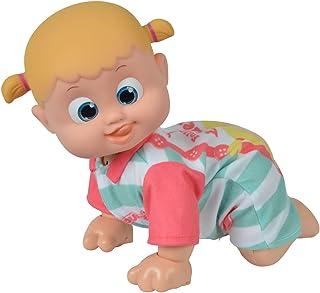 Simba Simba 105143250 - Bouncin Babies Bonny kommt zu Mama / Interaktive Puppe / Im bunten Strampler / Reagiert auf die Stimme / Mit Sound und 360 Grad Krabbelfunktion