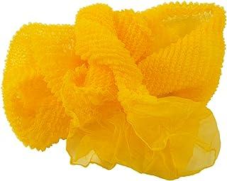 【さらさ】 ふわふわ 天使 プチ兵児帯 絞り 浴衣帯 on-15 (1オレンジ)