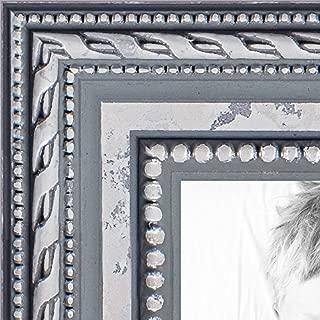 ArtToFrames WOM80801-SLV-16x20 Barnwood Wood Picture Frame, 16 x 20, Silver