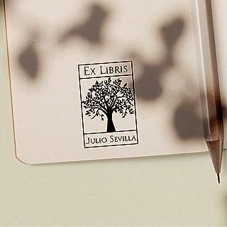 Sello Ex Libris Personalizado de Madera para Libros, 4 Diseños Disponibles, Sello para Libros