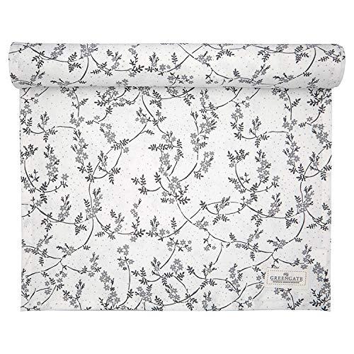 GreenGate - Tischläufer, Tischdecke - Amira - Baumwolle - weiß - 140 x 45 cm
