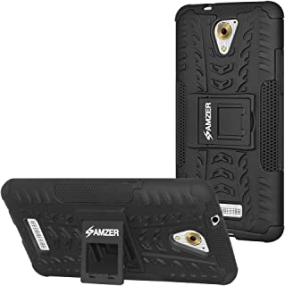AMZER Hybrid Warrior Case Cover for Coolpad Mega 3 - Black