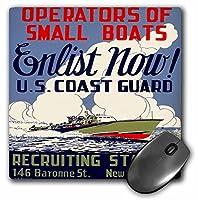 3drose LLC 8x 8x 0.25インチマウスパッド、米国沿岸警備隊演算子の小さなボートEnlist Now募集ポスター(MP 171435_ 1)