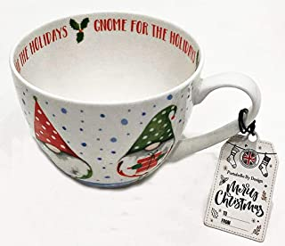 Portobello by Design Christmas Holiday Fine English Bone China Mug   Christmas Gnomes