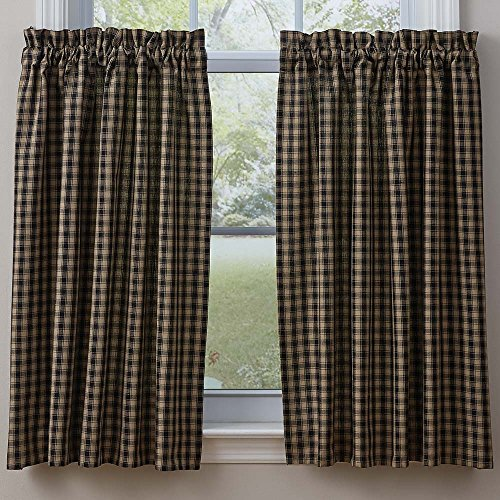 Park Designs Town and Country Black 36 Inch Curtain Tiers