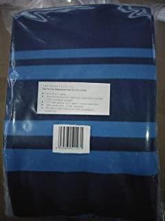 J&J home fashion Over The Door Replacement pad,Blue Stripe 42X14inch