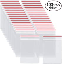 Small Plastic Resealable Zipper Bags 2x3 inch,Clear Poly Ziplock Bags,100 Pack