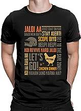 PrintOctopus Graphic Printed T-Shirt for Men & Women   PUBG T-Shirt   Playerunknown's Battlegrounds T-Shirt   Half Sleeve T-Shirt   Round Neck T Shirt   100% Cotton T-Shirt   Short Sleeve T Shirt