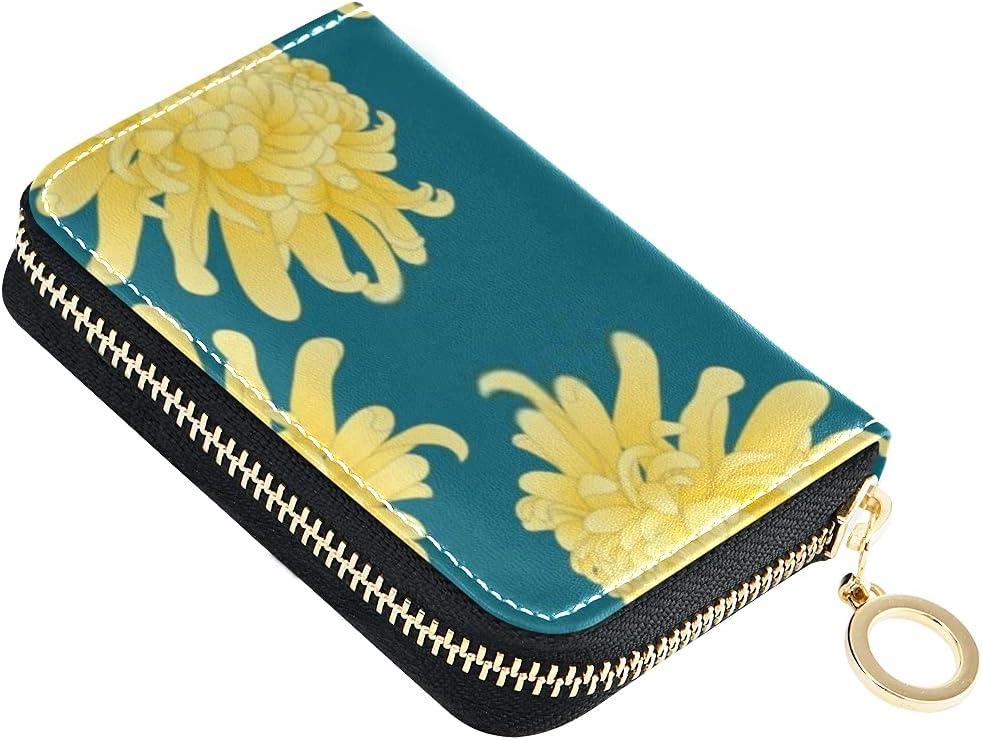 Card Wallet Yellow Chrysanthemum Kiku Japanese Small Flower Outstanding On Large-scale sale