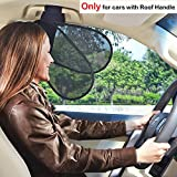 TFY Car Interior Roof Handle Sunshade Sun Protection Plus Glare Reduction for Driver and Passengers