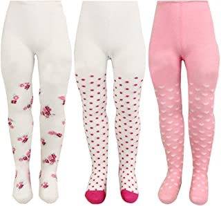 Ehdching 5-Pack Cute Cotton Cable Knit Pantyhose Legging Pant Tights for Toddler Baby Girls