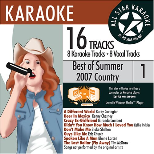 ASK-82003 Country Karaoke Summer 2007 Vol.1; Bucky Covington, Kellie Pickler and Tim McGraw