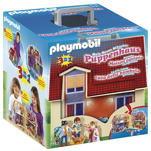 PLAYMOBIL-5167 Casa de muñecas maletín,, Miscelanea (5167)