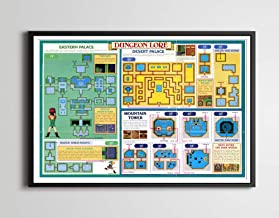 1992 Legend of Zelda: A Link to the Past - Dungeon Lore POSTER! (24