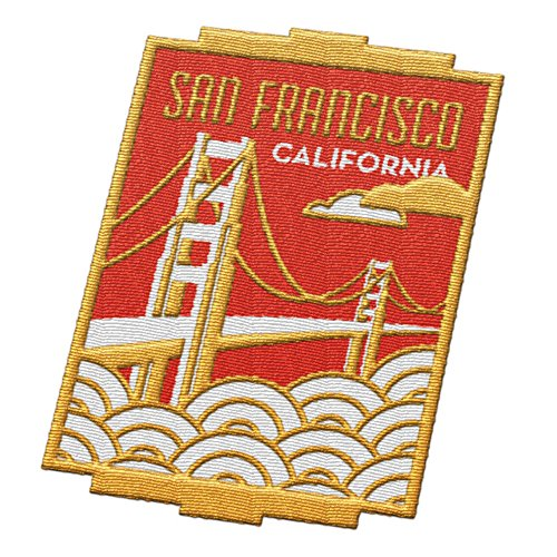 Vagabond Heart San Francisco California Travel Patch - Golden Gate Bridge / Great souvenir for backpacks and luggage / Backpacking and travelling badge.