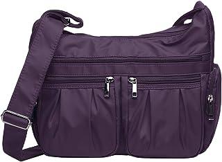 VOLGANIK ROCK Umhängetasche Damen Groß Kapazität Handtasche RFID Leichte Nylon Schultertasche Tasche Damen Reisetasche Ein...