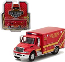 Greenlight Collectibles 1:64 H.D. Trucks Series 9 - 2013 DURASTAR Ambulance - LAS Vegas FIRE Department (LVFD) 33090-C DIECAST RED