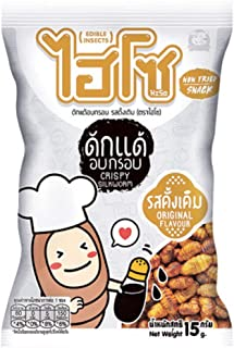 HISO, Crispy Silkworm, Original Flavour, 15 g X 6 Packs
