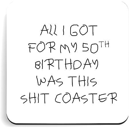LimaLima Funny 50th Birthday Coaster Gift Idea For Men & Women
