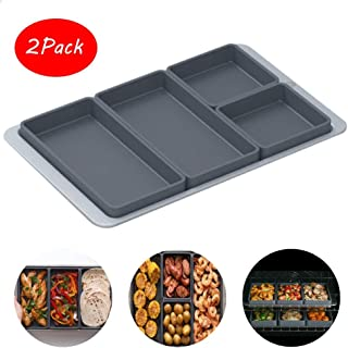 Generies Sheet Pan Cooking Reimagined Versatile Grid Dividers Silicone Tray Oven Dish Kitchen Utensils Baking Sets Nonstick Bakeware 4 Piece Set Without Iron Tray