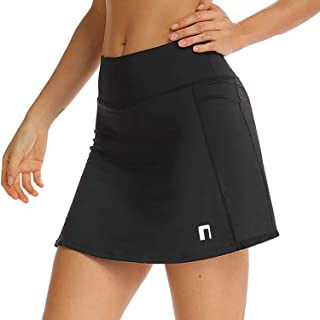 Tennis Skirt with Pockets for Women - Workout, Golf Skort with Build-in Shorts