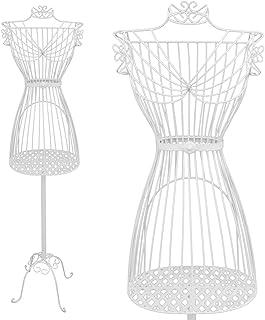 PrimoLiving Mannequin de couture en métal Blanc