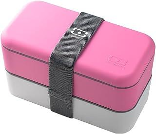 monbento Bento box 2段 ピンク/ホワイト 120002106