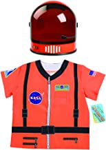 Aeromax My 1st Career Gear Astronaut NASA Shirt & Youth Astronaut Helmet 2 Piece Bundle, Orange.