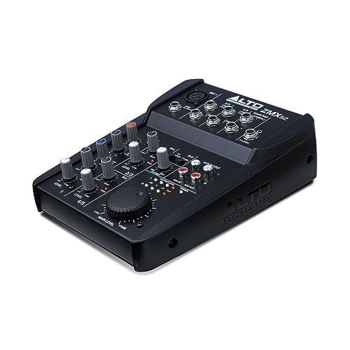 ALTO ZMX52 Professionelle Kompakter 5Kanal Mischpult mit 2 Band EQ und 18V Phantom Power