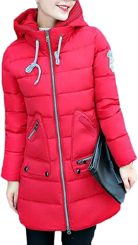 LKCENCA Women Warm Packable Hooded Long Down Outwear Jacket
